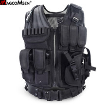 Chaleco táctico MAGCOMSEN chaleco militar MOLLE equipo Airsoft Combat accesorios SWAT seguridad guardia especial fuerza chaleco XS-01(China)