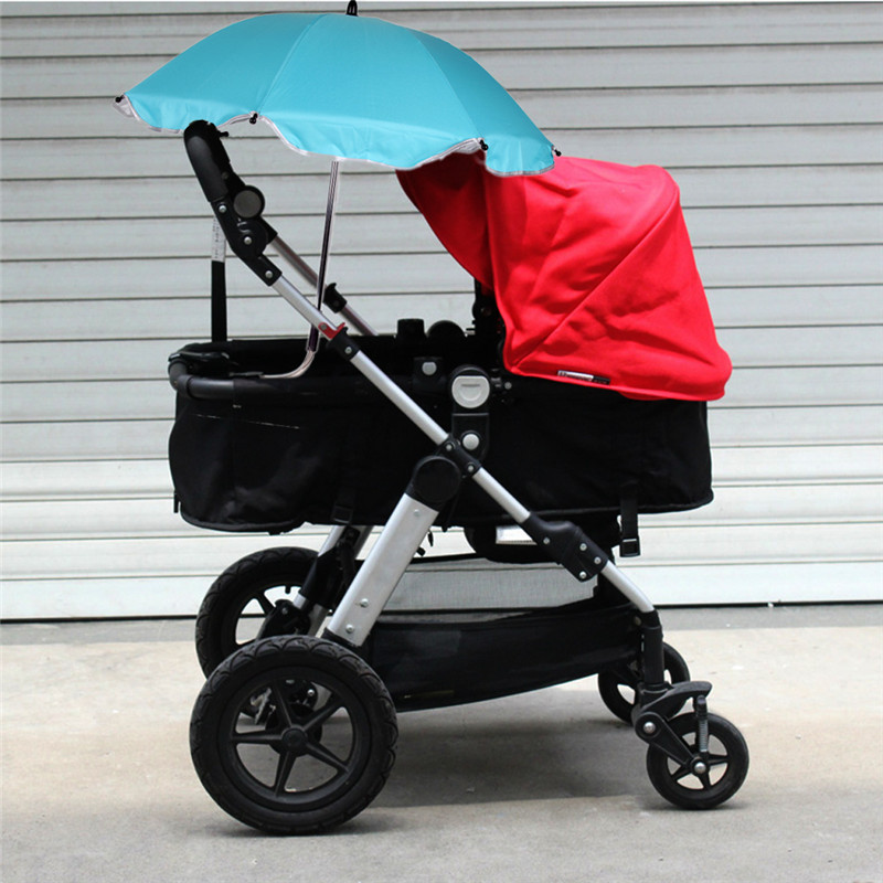Newborn Baby Stroller Car Sunshade Umbrella With Clip Kids Pram Sun Shade Parasol Adjustab Pushchair Canopy Stroller Accessory