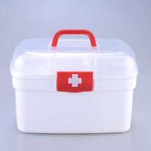 Portable Household Plastic Medicine Boxes Durable Storage Practical Moistureproof  Home Travel Necessary Medical Kit