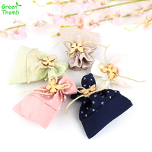 30pcs 10*11.5cm Bow Drawstring Gift Bag DIY Candy Bag Home S