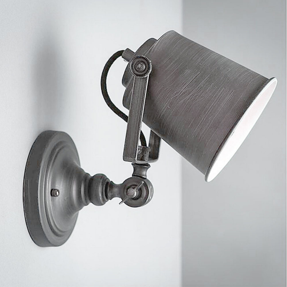 Wall light fixture retro loft metal vintage industrial rustic sconce wall light fixture retro loft metal vintage industrial rustic sconce swing arm wall lamp e27 fixtures in wall lamps from lights lighting on aliexpress arubaitofo Images