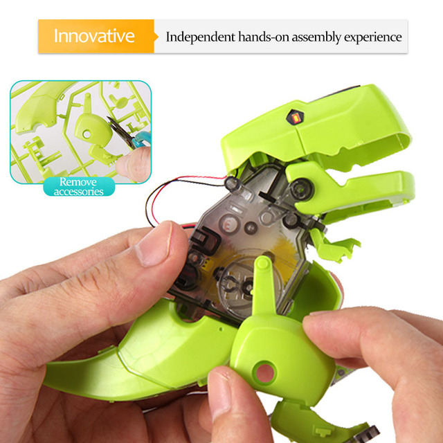 STEM Educational tecnologia Toys for Children Science Experiment Technology Dinosaurs Toy DIY stem toys for kids Puzzle