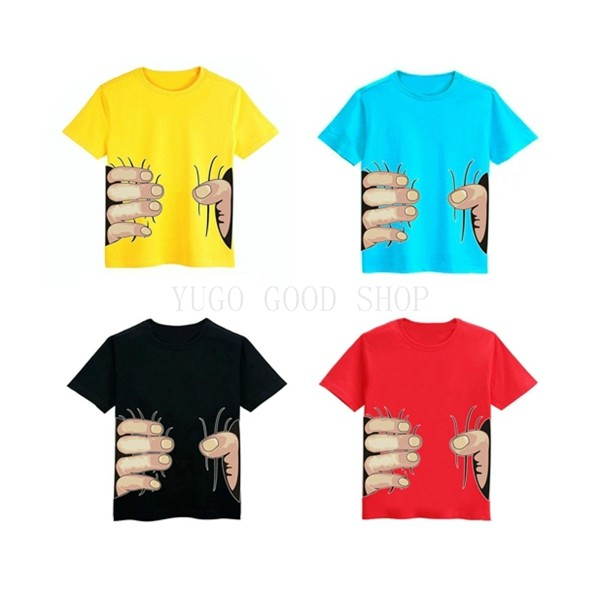 HOT New children clothes boys cotton unisex t shirt Big Hand Child Clothing Tops Tee kids short sleeve t-shirts2