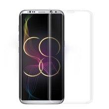 3D Изогнутые Поверхности Полное Покрытие Для S8 взрывозащищенные Закаленного Стекла Для Samsung Galaxy S6 S7 S8 Края Плюс Дуги Край Flim 0.2 мм 9 H