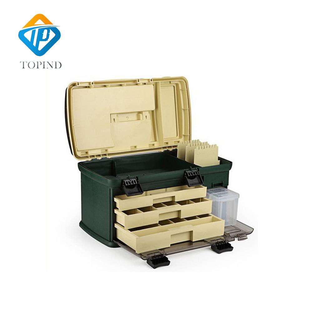 PP+PC+TP Big Fishing Tackle Box High Quality Plastic Handle Fishing Box Carp Fishing Tools Fishing Accessories