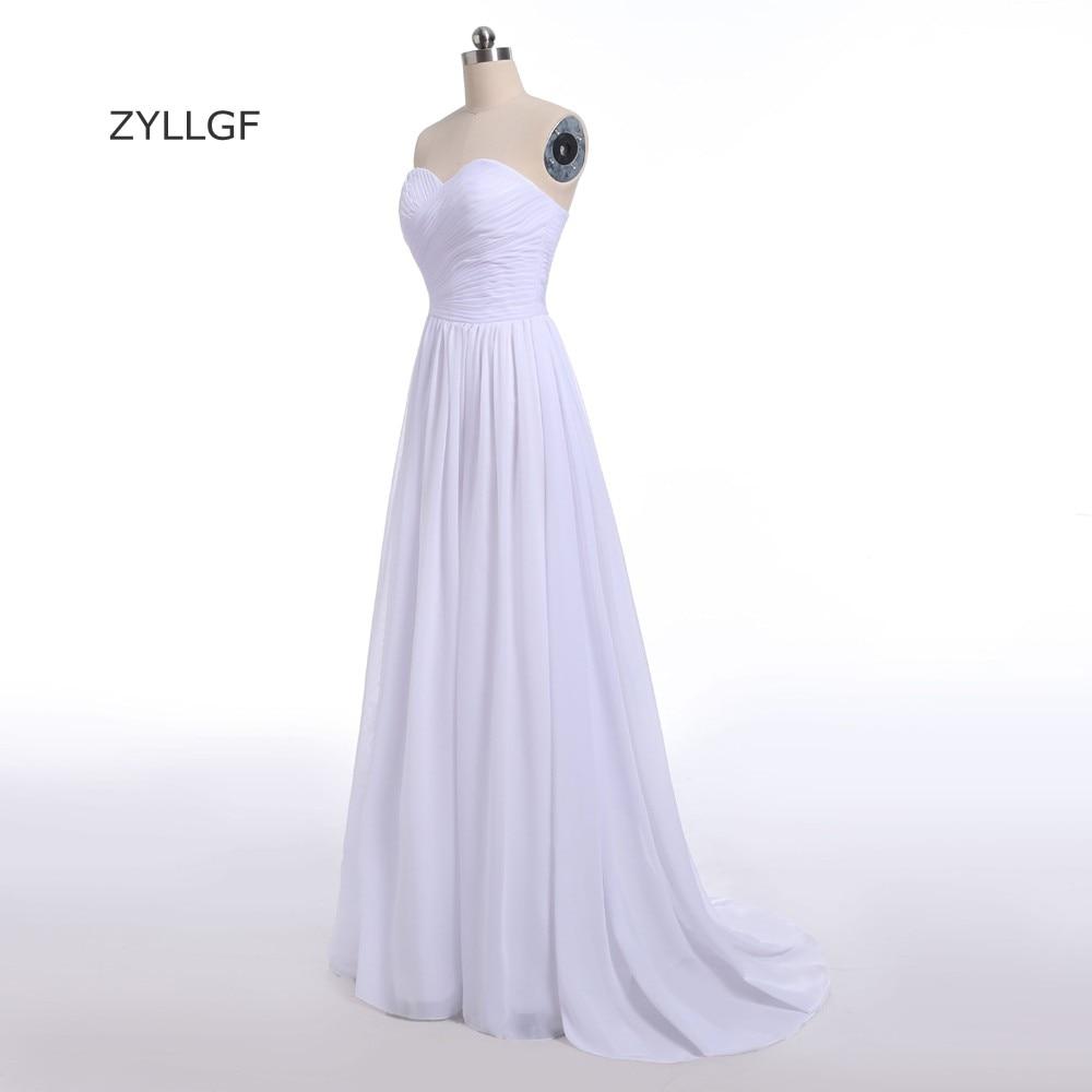 ZYLLGF apvalkalo suknelės suknelės suknelės ilgomis grindimis - Suknelės vestuvėms - Nuotrauka 3