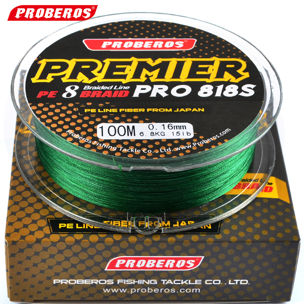 100m 8 stands pe fishing line red green grey yellow blue 8 for Red fishing line