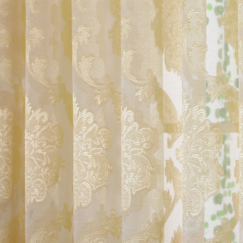 Buy 2015 luxury embroidered curtains gray for Curtain fabric ideas for living room