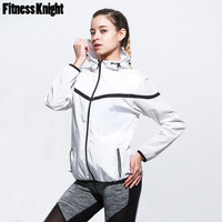 Sport Jacket Fitness Women Long Sleeve Jacket Zipper Hoodie Sweatshirt Windproof Jogging Jacket Sport Shirt Sport Top Sportswear