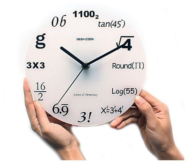 geek math number digital wall clock / fashion home decoration,novelty items and unique gift wholesale,free shipping W0079