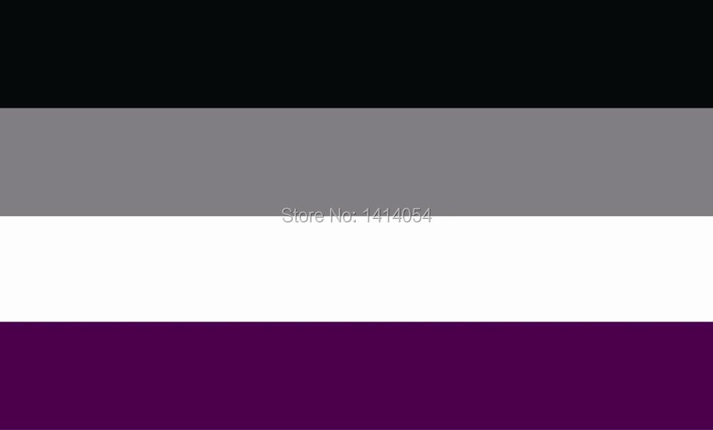 <font><b>Asexual</b></font> <font><b>Pride</b></font> Flag 150X90CM 3X5FT Banner 100D Polyester grommets custom009, free shipping image