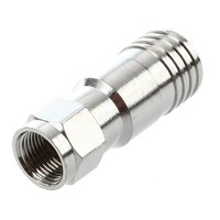 5 Pcs Silver Tone Crimp Type F Connector for RG11 Cable Ztpqv
