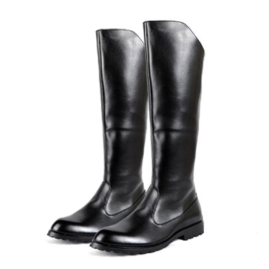 Free shipping Spring Autumn men s Flat honor guard parade Riding boots fashion Knee High boots