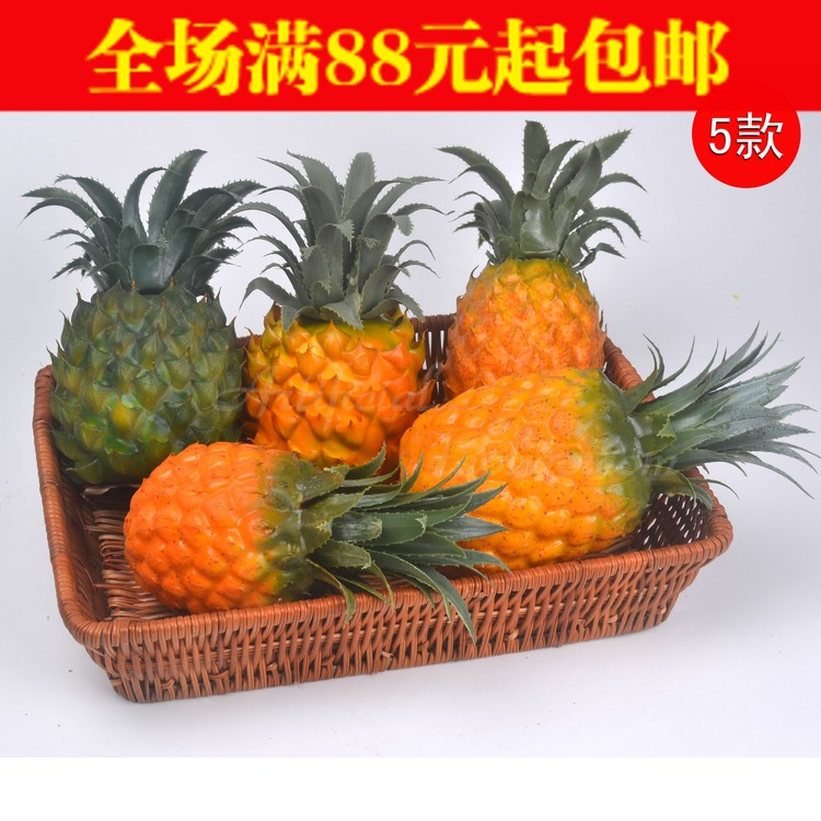 Garnishes Artificial Fruit Ananas Fake Vegetables Kitchen Cabinet