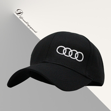 Customized car logo hat cotton washed high-grade fabric Audi racing cap Sports baseball cap