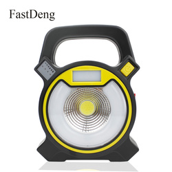 COB LED Portable Spotlight 15W Searchlight USB Rechargeable Handheld Work Light Power By 18650 Portable Lantern for Camping