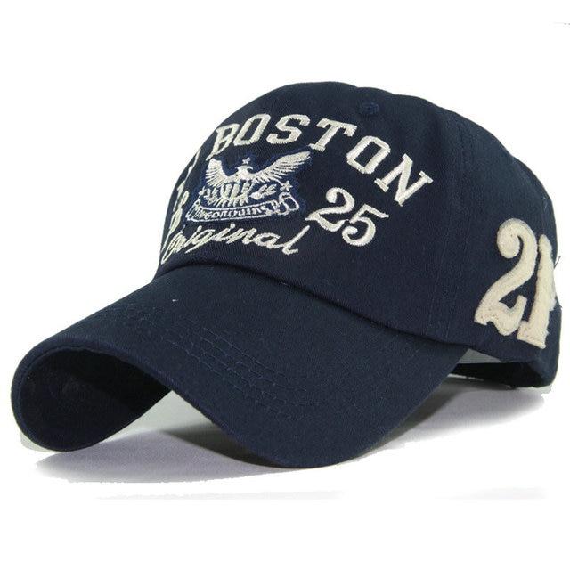 1fd0c2e0f13d2 High Quality Embroidery BOSTON Baseball Cap Cotton Adjustable Snapback Hat  Men Women Bone Racing Caps Hats