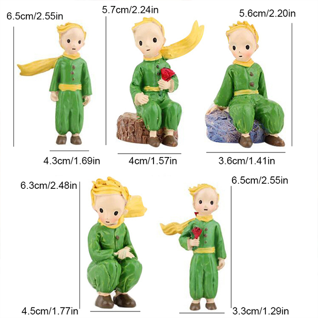 Cute Prince Resin Creative Crafts Cake Decorations Little Boy Model Standing Micro Landscape Flower Pots Decor Home Figurines 6