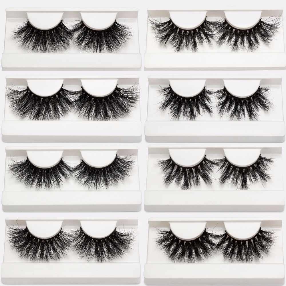 6ce009c8709 25mm Mink Eyelashes Cruelty Free False Eyelashes Crisscross Natural Fake  lashes Makeup 3D Mink Lashes Extension