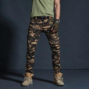 Image 2 - Vômito Estilo Militar dos homens Carga Calças Dos Homens Impermeável Respirável Calças Masculinas Corredores Exército Bolsos Das Calças Casuais Plus Size