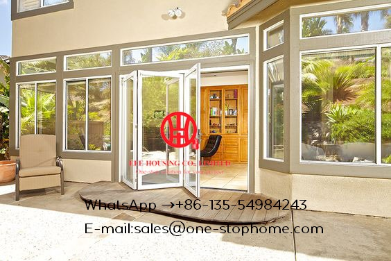 Aluminum Glass Folding Door For Sightseeing,aluminium Bifold French Doors,restaurants Tempered Glass Aluminum Folding Door