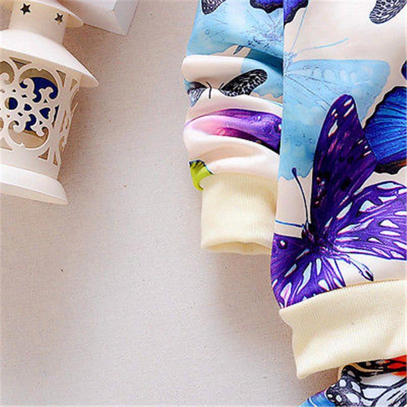 Newbaby 2 PCS Bayi Balita Anak Perempuan Jaket Pakaian Kupu-kupu - Pakaian anak anak - Foto 2