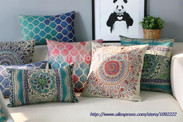 style pillows pin pillow abstract for bohemian throw decoration geometric home