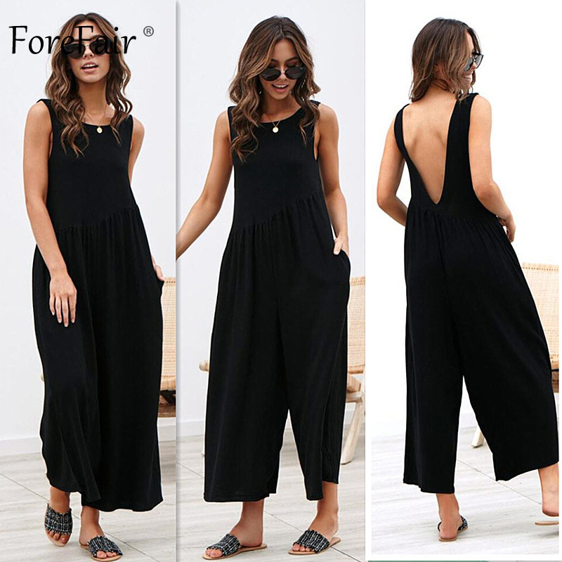 Jumpsuit Women Boot Cut Wide Leg Elegant Off Shoulder (13)