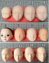 Free shipping food-grade silicone mold baby face