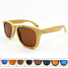 Fashion New Brand Bamboo Sunglasses Women Men Polarized Sunglasses Popular Outdoor Sprot Style Sun Glasses Wooden Frame Glasses