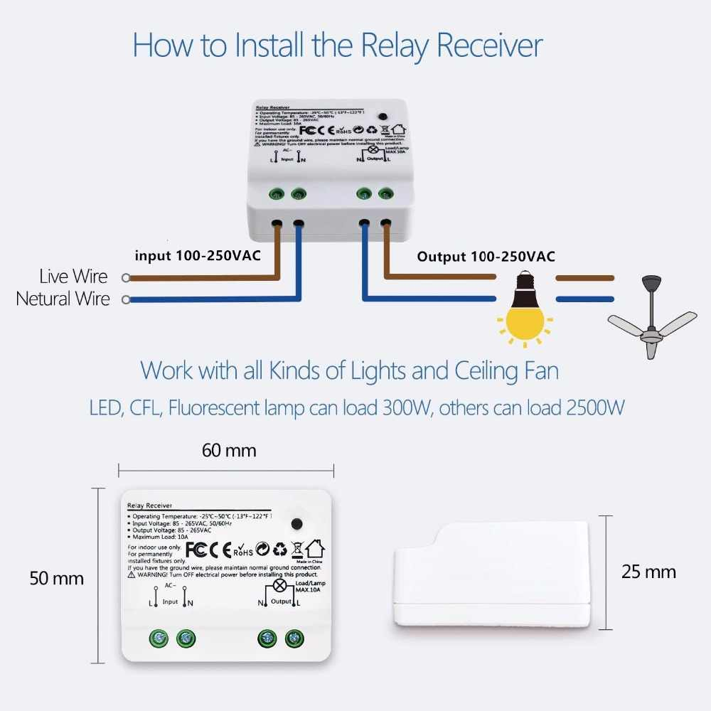 wireless switch kinetic no battery needed no wiring needed easy to install remote control light  [ 1000 x 1000 Pixel ]