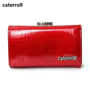 bf31d9f09 Corto billetera de cuero genuino de las mujeres mini billeteras camiseta carteras  y monederos de cuero real de marca de bolsa de dinero