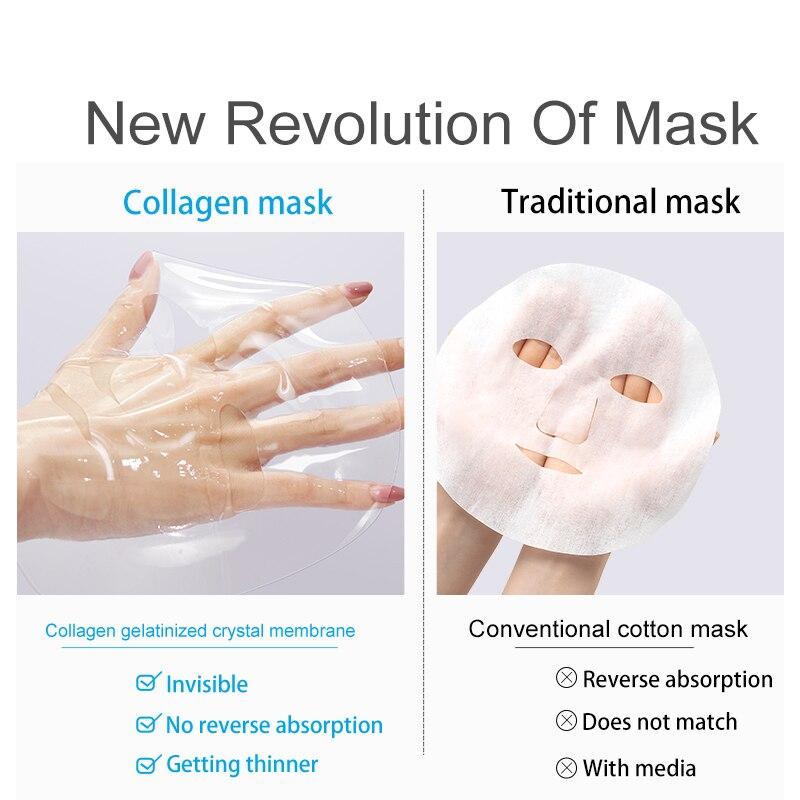 Image 5 - Fonce Korea Collagen Face Mask 10 Piece Moisturizing Improve Coarse Rejuvenation Tight Fade fine lines whitening Brighten Skin-in Treatments & Masks from Beauty & Health