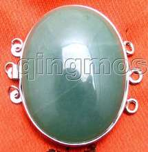 SALE Big 32*42mm Oval natural Green jade Three strands Clasp-gp175 Wholesale/retail Free shipping free shipping for jade cushion germanium jade heated cushion hot sale in china for sale