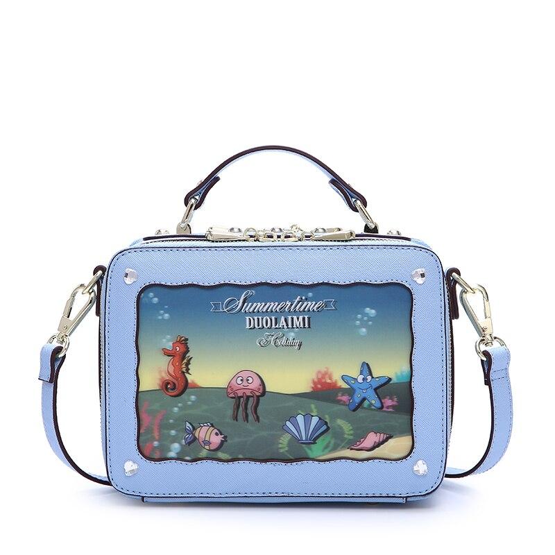 2019 new bag women fashion Leisure bag high quality handbag shoulder Cartoon bag women free shipping