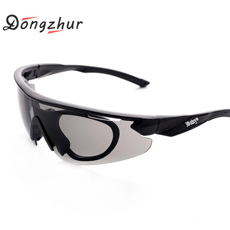 Daisy Glasses Men Military Motorcycle Cycling Goggles Polarized Sunglasses Outdoor Shooting Gafas Smoke Lens