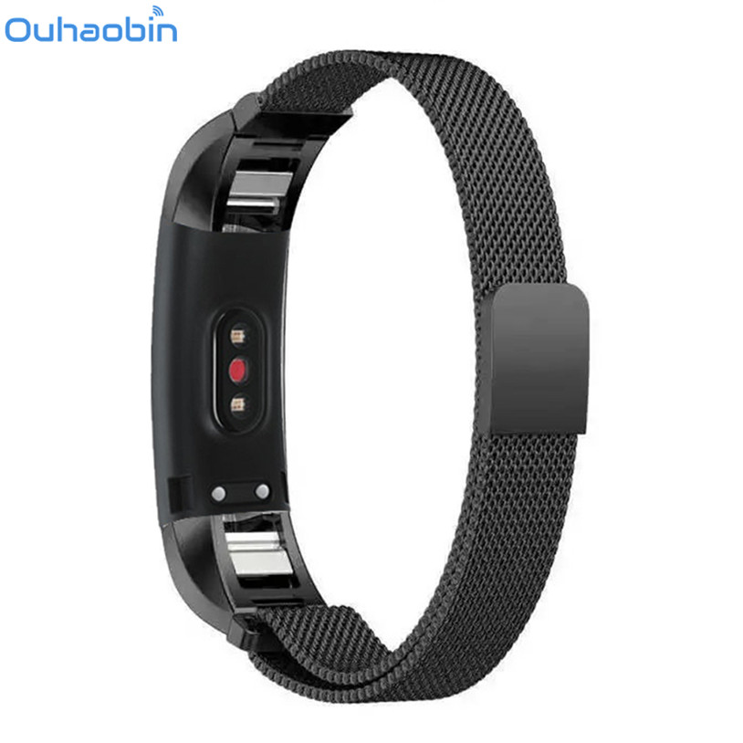 Ouhaobin Milanese Magnetic Loop Stainless Steel Band Strap Bracelet For Huawei Honor 3 Smart Watch Gift Feb 1 Drop Ship for huawei honor 3 wrist band strap sport bands milanese stainless steel band quick release smart bracelet for smart watch ja08
