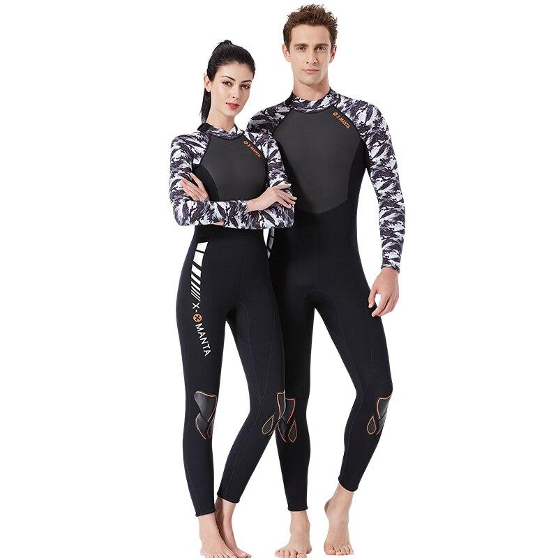 Plongée sous-marine Costume 3mm Néoprène Surf Combinaison Femmes À Manches Longues Maillots De Bain De Pêche Vêtements Sport Maillots de Bain Hommes Salopette Combinaisons