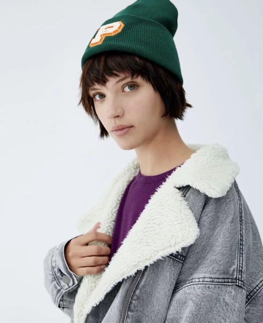 Femmes Épaisse Veste Agneau Street Cheveux Harajuku Bts High Chaud D'hiver Denim Hiver Flétri Manteau 8nxTEE