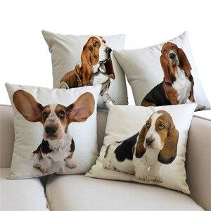 Linen Cushion Cover Basset Hou