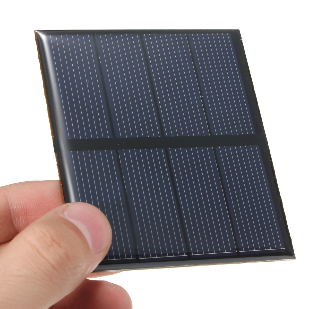 CLAITE 2V 0.6W Solar Panel 300mA Solar Charger 1.2V Rechargeable Battery Charger Module Mini DIY Epoxy Polycrystalline Cells