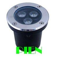 3 W LED מחתרת IP68 קבור מנורת סיפון אור חיצוני שקוע רצפת עוגת דה לוז lamparas 12 V 220 V CE & ROHS ידי DHL 10 יחידות