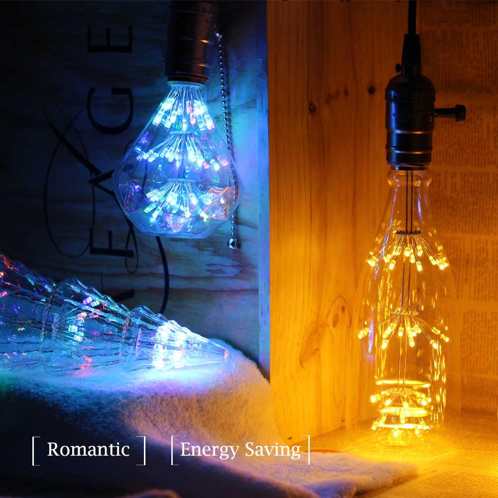 E27 светодиодный ламп накаливания ST64 Красочные звездное небо, стилизованные под языки пламени Лампа 220 V, для детей от 2 до 8 лет W Глобус лампада led лампочки для украшения для домашнего праздника