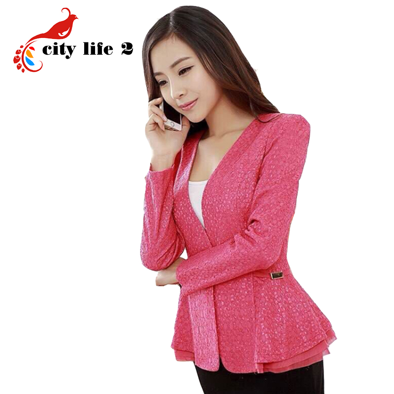 c449bbf4c284c4 Women Business Suits Formal Office Suits Work 2015 Autumn New Blazer ...