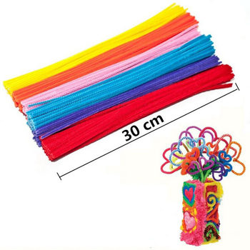 105pcs/lot bendaroos Montessori Materials Math Chenille stems Sticks Puzzle Craft Children Pipe Cleaner Educational Creative Toy 10