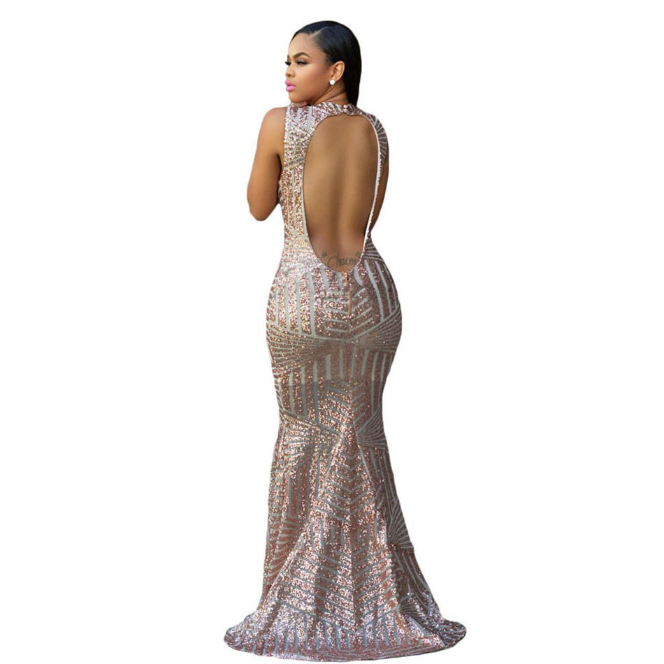 Blush-Sequins-Keyhole-Back-Party-Gown-LC60881-1