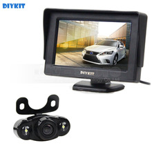 DIYKIT 4.3inch TFT LCD Car Monitor + Waterproof Rear View Car Camera Parking System Kit