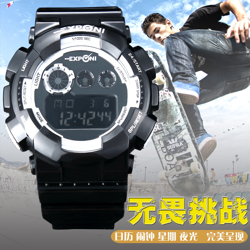 LED Digital Watch Men Sport Wrist Watches 2016 Top Brand Luxury Famous Male Clock Military Digital