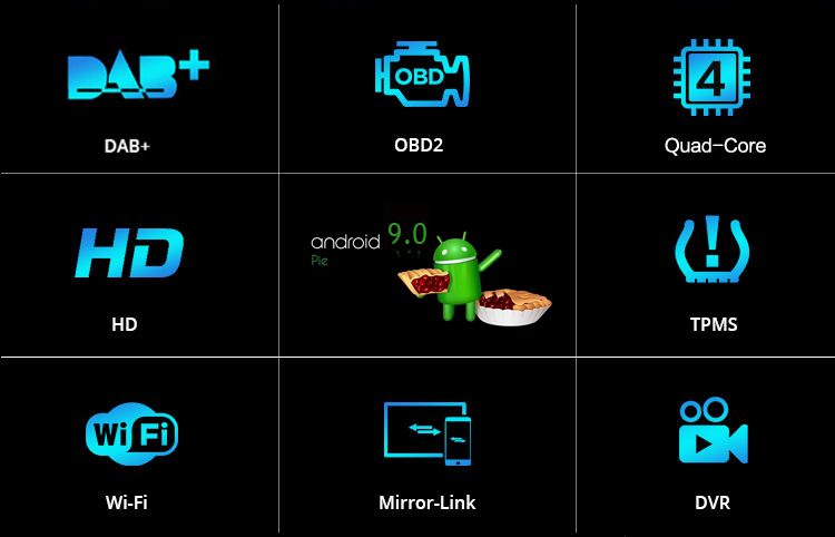 Cheap COIKA Android 9.0 System Car Head Unit 2+16G RAM For BMW 3 Series E46 MG ZT Rover 75 GPS Navi Stereo WIFI Google 1080P Video SWC 3