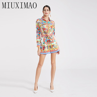 2019 Latest Europe Spring Fashion Suit Sets 2 Piece Full Sleeve Slim Tassels Top + Above Short Skirt Geometric jumpsuit